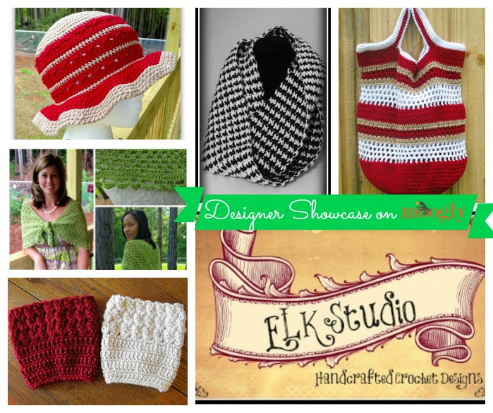 ELK Studio - Handcrafted Crochet Designs - 5 free #crochet patterns in the Designer Showcase on Mooglyblog.com