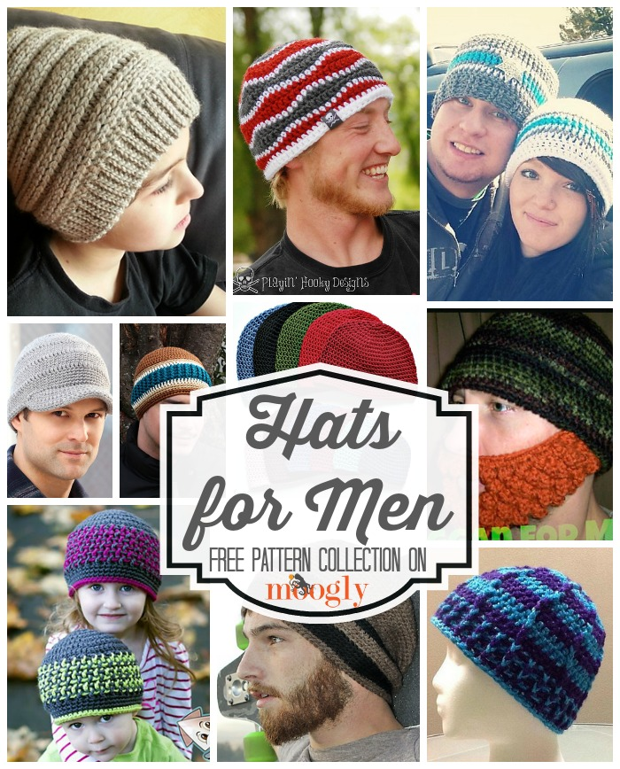 821baddc3a63d Free  Crochet Hats for Men  Special Collection from Mooglyblog.com