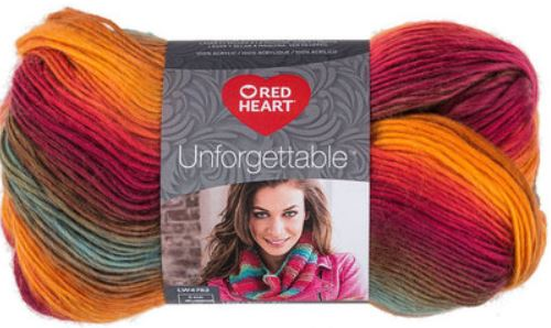 Red Heart Yarn Unforgettable - Sunrise