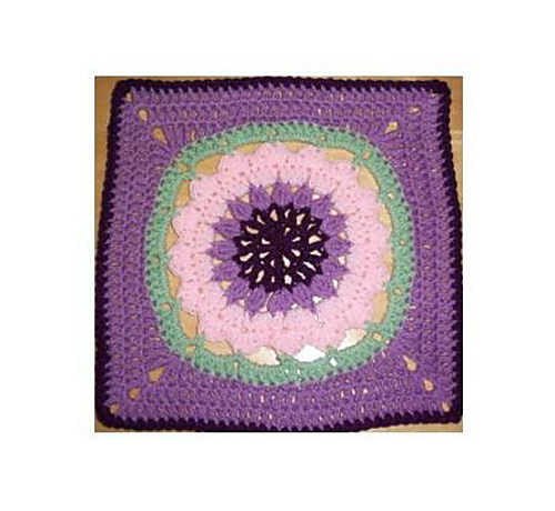 Block #14 for the Year Long Moogly Afghan CAL! ♥ Starfire by Melinda Miller