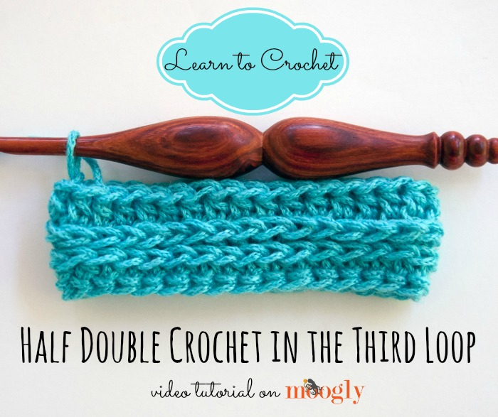 Crocheting Hdc : Learn how to #crochet in the third loop of the half double crochet ...
