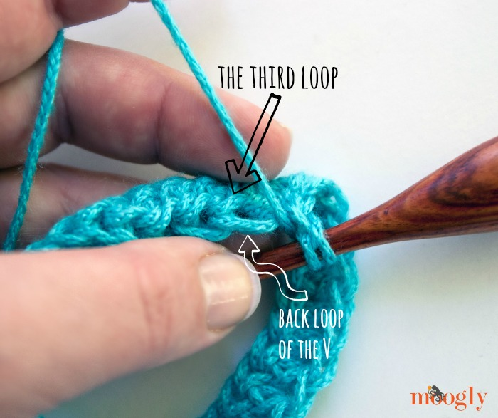 Learn how to #crochet in the third loop of the half double crochet stitch - a Moogly video tutorial!