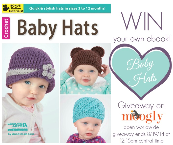 "Win a copy of ""Baby Hats"" by Annastasia Cruz on Moogly! Giveaway ends 8/19/14 at 12:15 am Central Time."