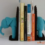 Crochet Elephant Bookends