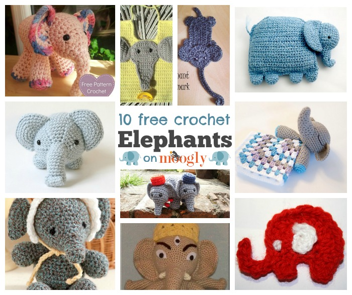 Elephants On Parade 10 Free Crochet Elephant Patterns Moogly