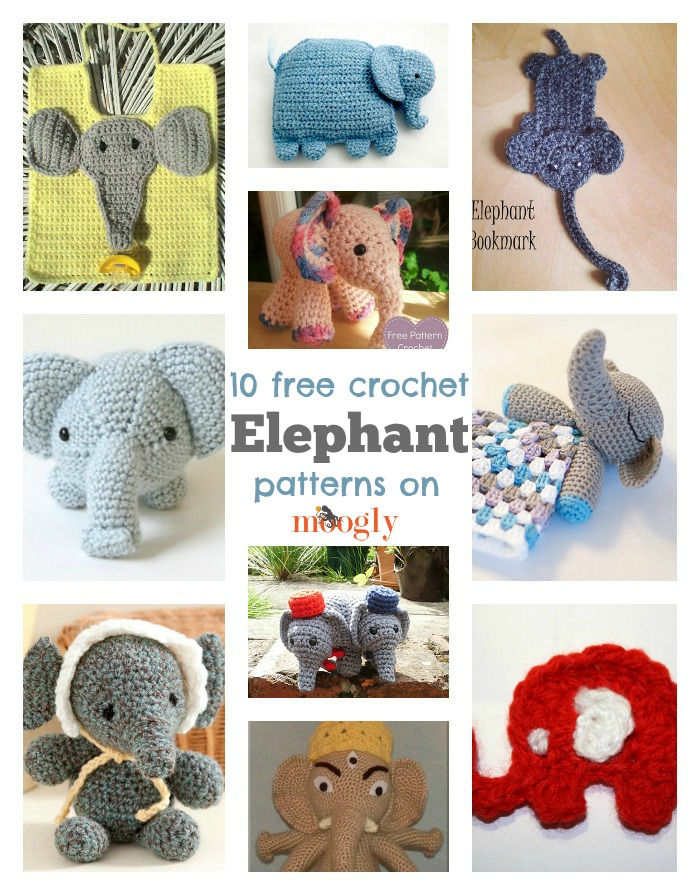 Elephants on Parade: 10 Free Crochet Elephant Patterns! - moogly