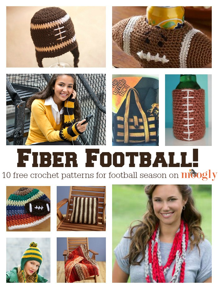 ree #Crochet Patterns for Football Season! A collection on Mooglyblog.com