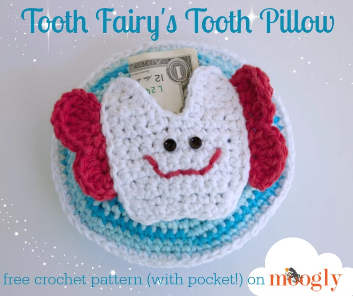 Free #Crochet Pattern: Tooth Fairy\'s Tooth Pillow!