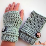 Ups and Downs Crochet Fingerless Gloves