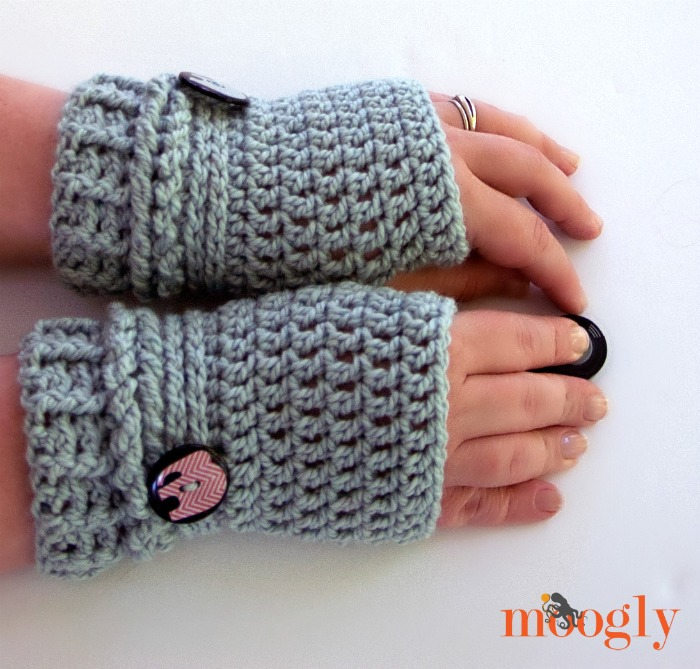 Crocheted Fingerless Gloves Pictures to pin on Pinterest