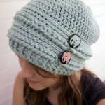 Ups and Downs Crochet Slouchy Beanie