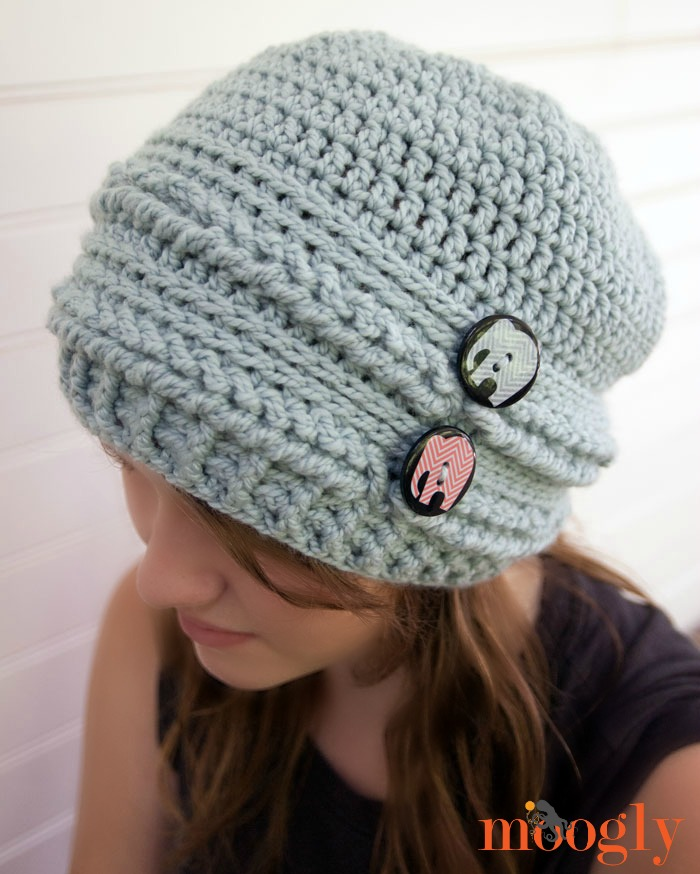 Crochet Stitches For Beanies : Ups and Downs Slouchy Beanie - free #crochet pattern on Mooglyblog.com ...
