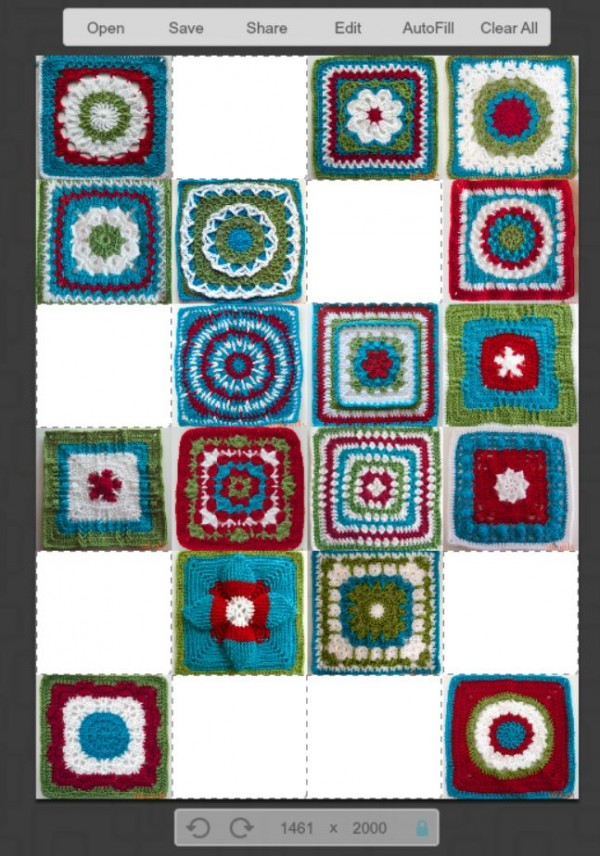 Learn how to use PicMonkey to plan your Moogly Afghan Crochet-a-Long layout!