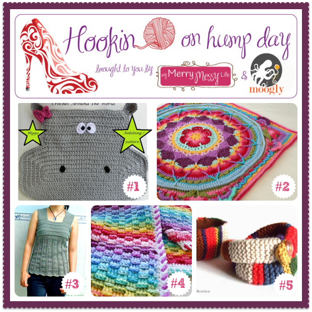 Hookin On Hump Day #78 - fab fiber arts projects from around the web! #linkparty #crochet #knit #sew