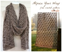 Alpaca Your Wrap - free #crochet pattern on Moogly!