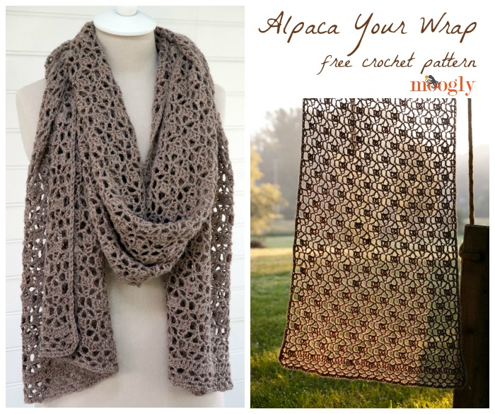 Alpaca Your Wrap Free Crochet Pattern On Moogly