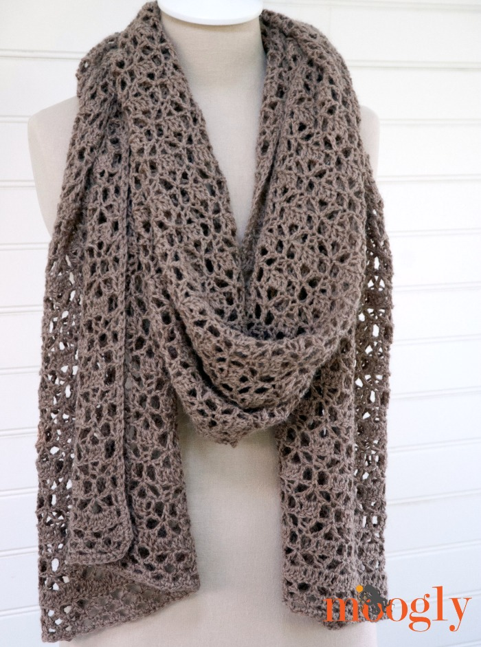 Crochet Wrap : Free Crochet Scarf Patterns For Beginners Free Crochet Pattern on