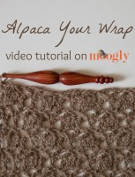 Alpaca Your Wrap: a video tutorial and free #crochet pattern on Moogly!