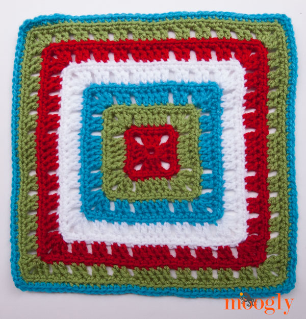 Moogly Afghan CAL Block #19 - Bold Squares!