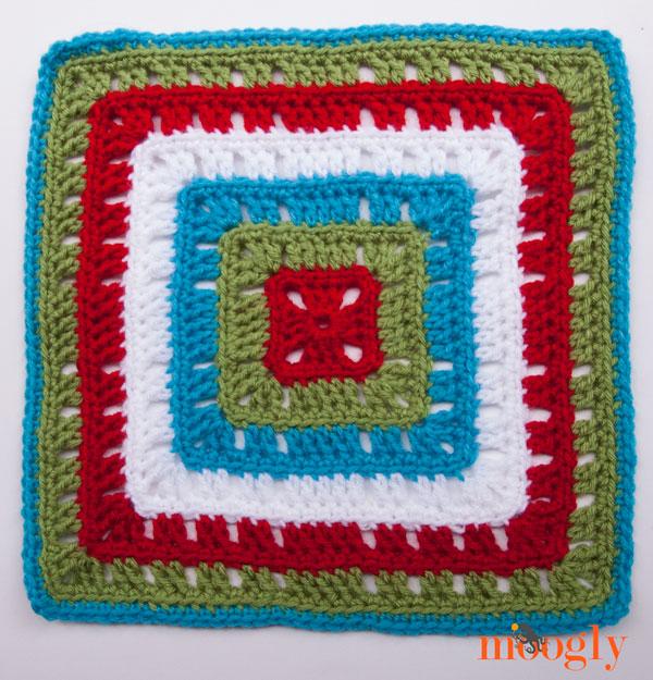 Moogly Afghan CAL Block #19 - Bold Squares!