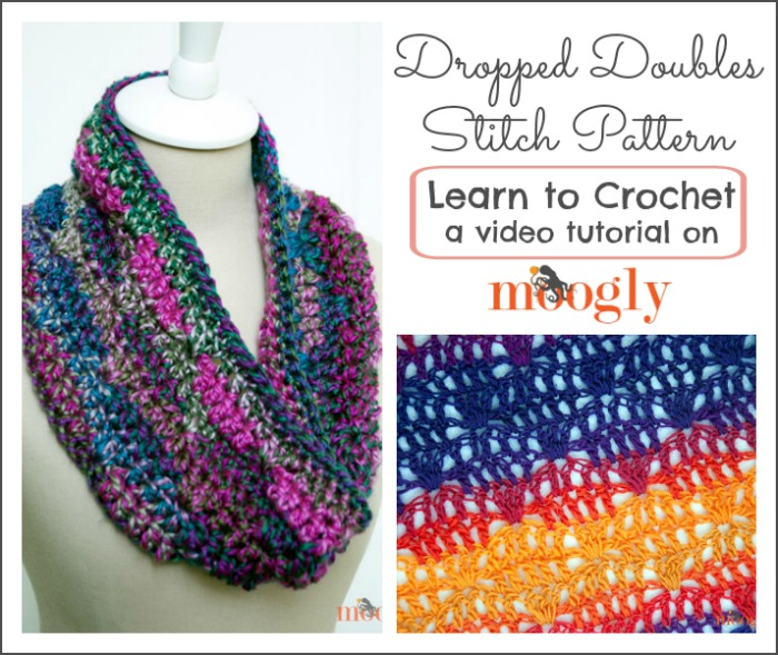 Crochet Patterns How To : Dropped Doubles Stitch Pattern: Learn to #crochet this fun stitch with ...