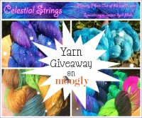 Celestial Strings Yarn Giveaway on Moogly! Open to US residents only, ends 9/30/14 at 12:15am Central Time.