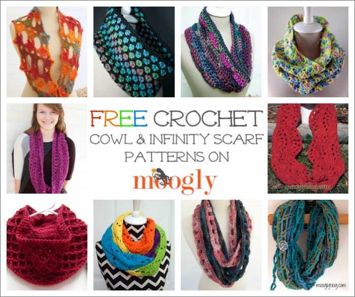 10 Free Cowl and Infinity Scarf #Crochet Patterns on Moogly!