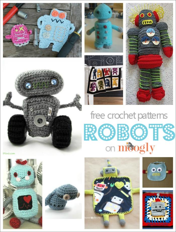 Domo Arigato for 10 Free #Crochet Robot Patterns!