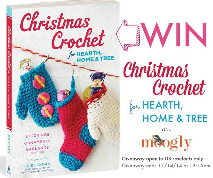 "Win ""Christmas Crochet"" by Edie Eckman on Moogly! Open to US residents only, giveaway ends 11/14/14 at 12:15am!"