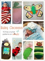 All Wrapped Up: 10 Free #Crochet Baby Cocoon Patterns for Halloween, Photo Shoots, and More!