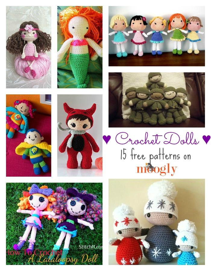 15+ Free Crocheted Doll Patterns • Free Crochet Tutorials | 899x700