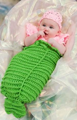 Free Crochet Pattern Mermaid Cocoon : All Wrapped Up: 10 Free #Crochet Baby Cocoon Patterns!