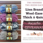 Lion Brand #Scarfie Yarn Giveaway!
