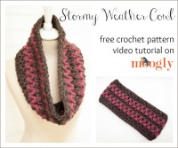 Learn to #crochet the Stormy Weather Cowl with a Moogly Video Tutorial!