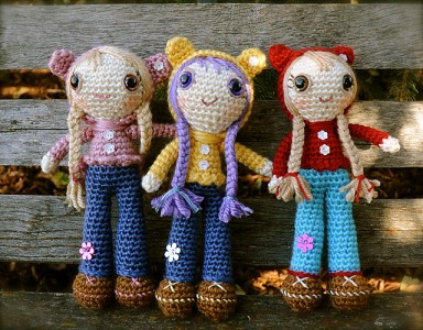 Free Crochet Amigurumi Mermaid Pattern : Delightful dollies free crochet doll patterns moogly