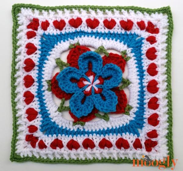 Starburst Flower Crochet Blanket Pattern : The 2014 Moogly Afghan Crochet-a-Long: Block #22! - moogly