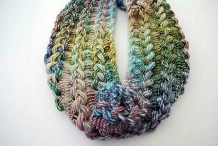 Pin Chunky Bulky Button Crochet Cowl Heart 2 Homeheart