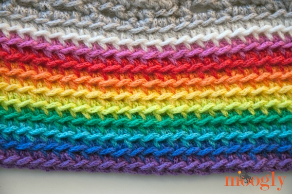 Magic Rainbow Baby Blanket Free Crochet Pattern