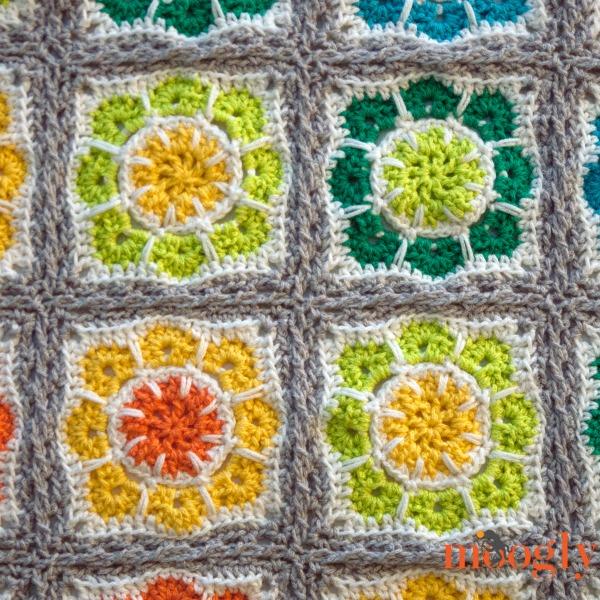 Magic Rainbow Baby Blanket: free join-as-you-go #crochet pattern from Mooglyblog.com!