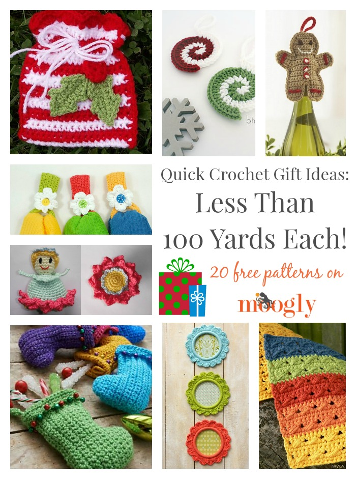 Crochet Patterns Gifts : 20 Free Crochet Pattern Gift Ideas Using Less Than 100 Yards of Yarn