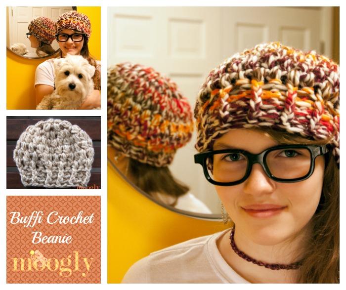 Buffi Crochet Beanie - free #crochet hat pattern in 3 sizes on Mooglyblog.com