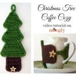 Christmas Tree Coffee Cozy Tutorial