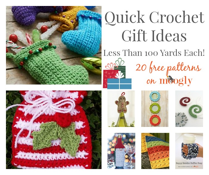 Crocheting Gifts Ideas : Quick #Crochet Gift Ideas: Less Than 100 Yards Each!