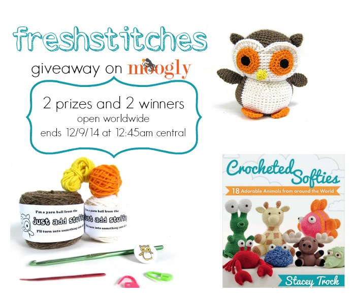 FreshStitches Giveaway on Moogly! :D Ends 12/9/14 at 12:45am!