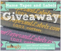 Name Tapes and Labels - Giveaway on Moogly! Ends 12/2/14, see post for details!