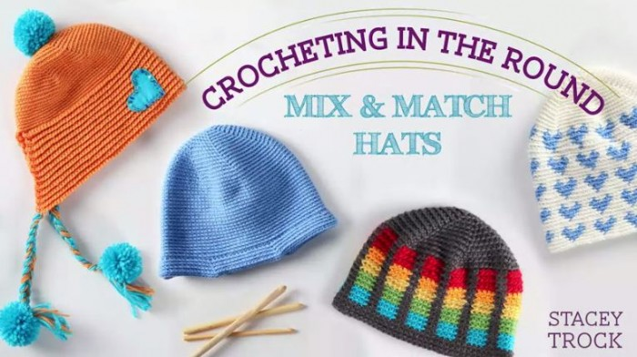 ... Crocheting in the Round: Mix and Match Hats! The hats look AMAZING