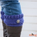 Ups and Downs Boot Cuffs - free #crochet pattern on Moogly!
