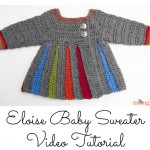 Eloise Baby Sweater - #crochet tutorial video by Moogly!