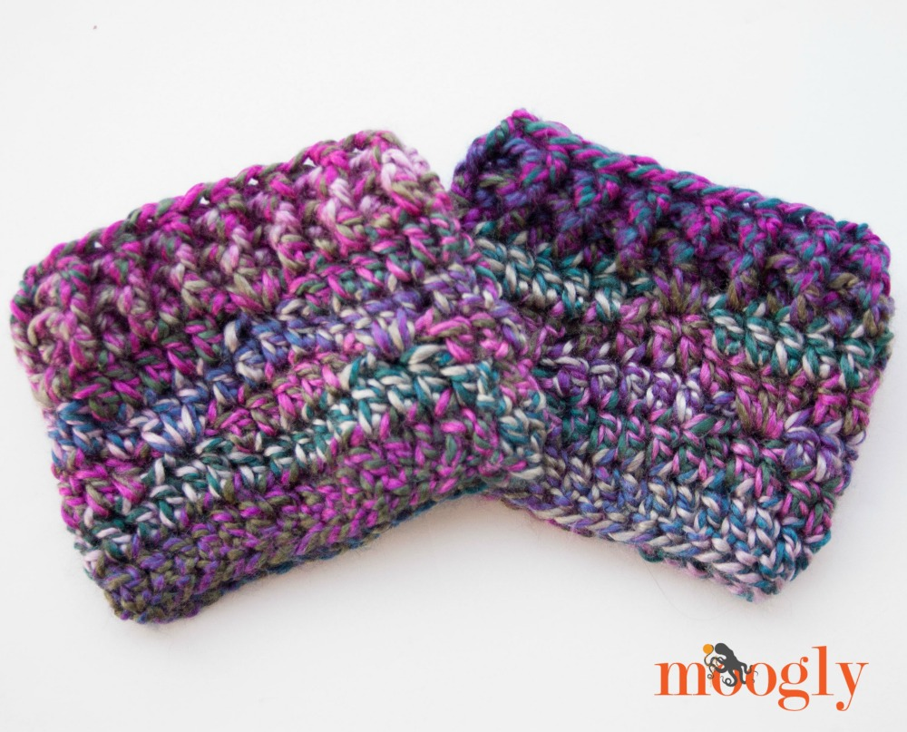 Free #Crochet Pattern: Luscious One Skein Boot Cuffs!