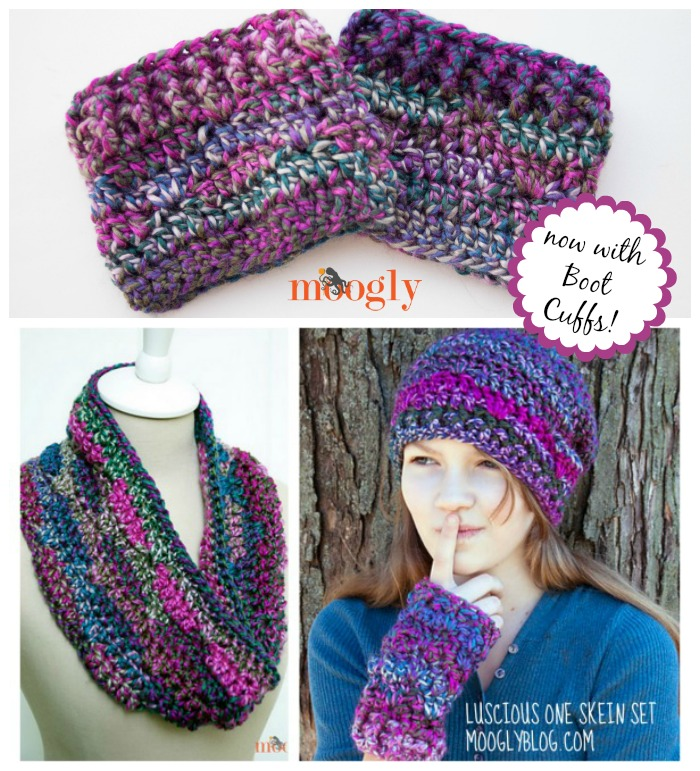 The Luscious Collection of one skein crochet patterns! All free on Mooglyblog.com!